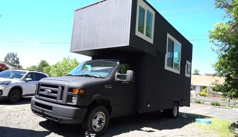 How to convert a box truck into a camper?