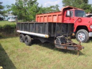 How to convert a dump truck into a dump trailer?