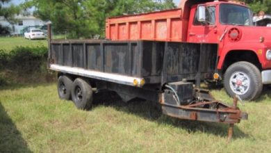 How to convert a dump truck into a dump trailer?