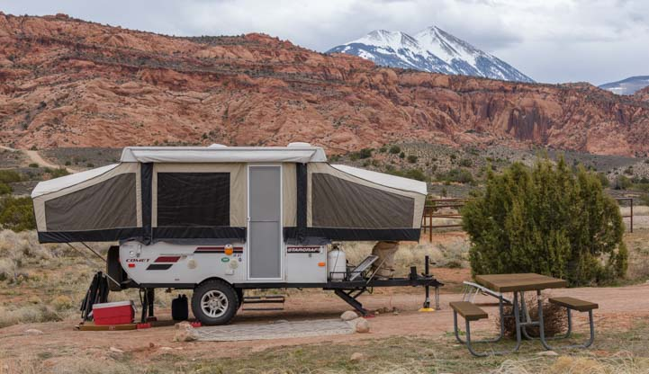 Can You Live in a Pop Up Camper Year Round?