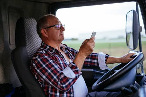 Can Truck Drivers Use Hands Free Devices?