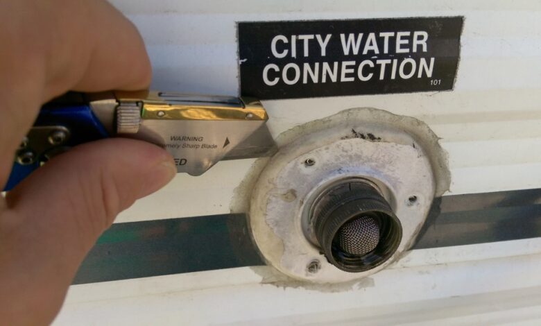 How to Repair RV City Water Connection?