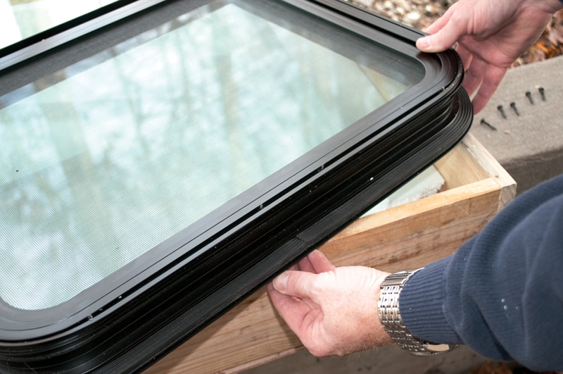 How to Replace RV Door Window Frame?