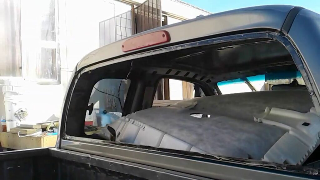 How to Remove Back Window From Truck?
