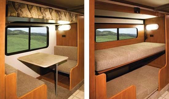 What Size Is the Table Bed in a Camper?