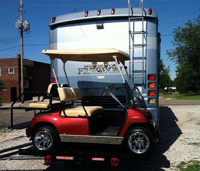 Can You Tow a Golf Cart Carrier Behind an RV?